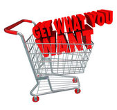 Get What You Want Shopping Cart — Stock Photo