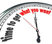 Time to Get What You Want Clock — Foto de Stock