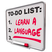 Learn a Language To Do List — Stock Photo