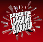 Break Language Barrier Translation — Stock Photo