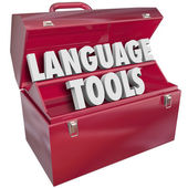 Language Tools Toolbox — Stock Photo