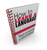 How to Learn a New Language Book — Stock Photo