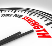 TIme for Strength Clock Deadline Strong Skills — Stock Photo