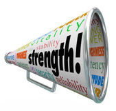 Strength Bullhorn Megaphone Message — Stock Photo