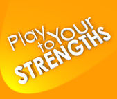 Play to Your Strengths Competitive Advantage — Stock Photo