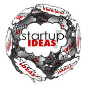Startup Ideas Thought Cloud Brainstorm — Foto de Stock