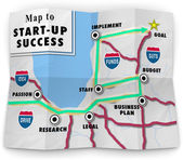 Map Start Up Success Road Directions — Stock Photo