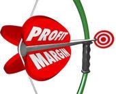 Profit Margin Bow Arrow — Stock Photo
