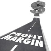 Profit Margin Road Going Up — Stock Photo