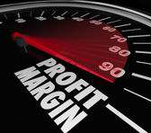 Profit Margin Speedometer — Stock Photo