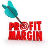 Profit Margin Arrow in Target — Stock Photo