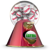 Karma Gum Ball Machine — Stock Photo