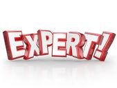 Palabra experto — Foto de Stock