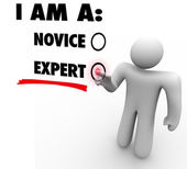 I Am An Expert Choose Experience Expertise Skill Level — ストック写真