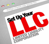 Set Up Your LLC Limited Liability Corporation Website Online Hel — Stock Photo