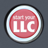 Start Your LLC Car Start Ignition Button New Business Model — Stock Photo