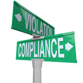 Compliance Vs Violation — Stock Photo