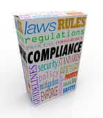 Compliance Word Product Service — Stock Photo