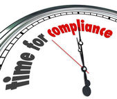 Time for Compliance Words — Stock Photo