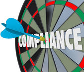 Compliance Word Dart Board — Stock Photo