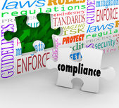 Compliance Puzzle Piece — Stock Photo