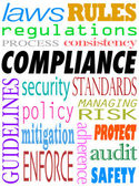 Compliance Word — Stock Photo