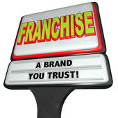 Franchise Restaurant Business Sign Brand — Stock Photo