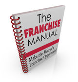 Franchise Manual Book — Stock Photo