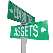 Assets Vs Liabilities — Stock Photo