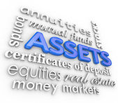 Assets Word Collage — Stock Photo