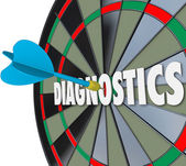 Diagnostics Word in Dart Board — Stock Photo