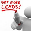 Get More Sales Leads — Stock Photo #46006765