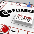Compilance Board Game Follow Rules Regulations Laws — Stock Photo