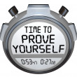 Time to Prove Yourself Stopwatch Timer — Stock Photo #46022059