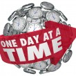 One Day at a Time Clock Sphere — Stock Photo #46022679