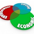 Environment Social Economic Diagram — Stock Photo #46022755