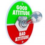 Good Vs Bad Attitude Toggle Switch — Stock Photo #46022939
