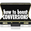 How to Boost Conversions Briefcase — Stock Photo #46023663