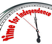 Time for Independence Clock — Stock Photo