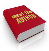Meet the Author Book Cover — Stock Photo