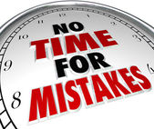 No Time for Mistakes Clock — Stock Photo