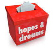 Hopes Dreams Box Collecting Desires — Stock Photo