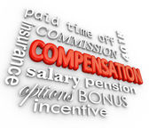 Compensation Benefits Salary Total Pay Package Words — Stock Photo