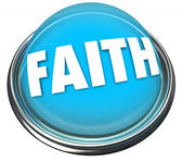 Faith Blue Button — Stock Photo