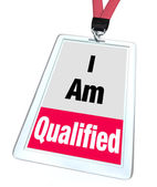 I Am Qualified Badge Certified License — Stock Photo