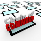 Chain of Command Words — Stock Photo