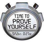 Time to Prove Yourself Stopwatch Timer — Stock Photo