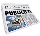 Publicity Newspaper Headline Attention — Stock Photo