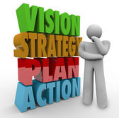 Vision Strategy Plan Action — Stock Photo