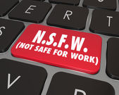 NSFW Not Safe For Work Computer Keyboard Key — Stock Photo